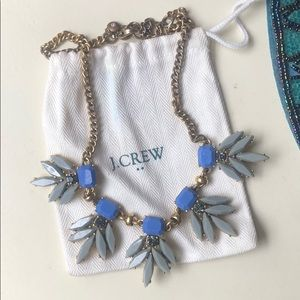 J. Crew blue gem and stone statement necklace